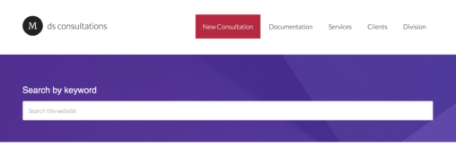 Thumbnail size screenshot of the Consultations Notes site